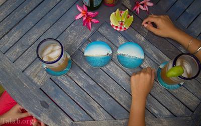 آموزش هنری زیر لیوانی با استفاده از درب بطری