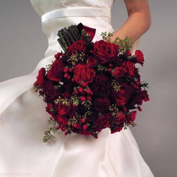 مدل های دسته گل عروس نگین دار ایرانی 97 - 2018