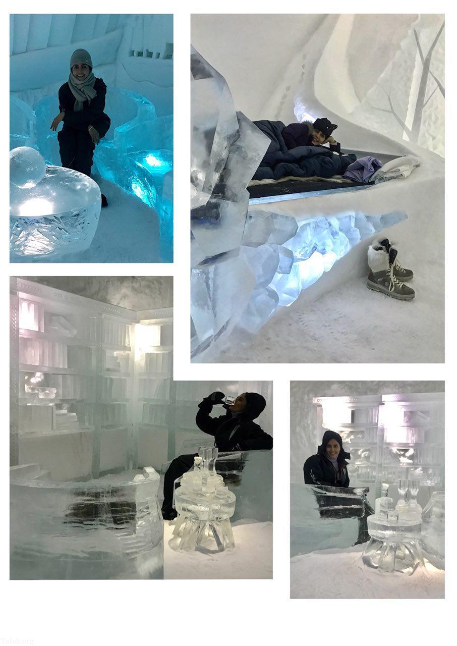 عکس های داغ الناز شاکردوست در هتل یخی در روسیه