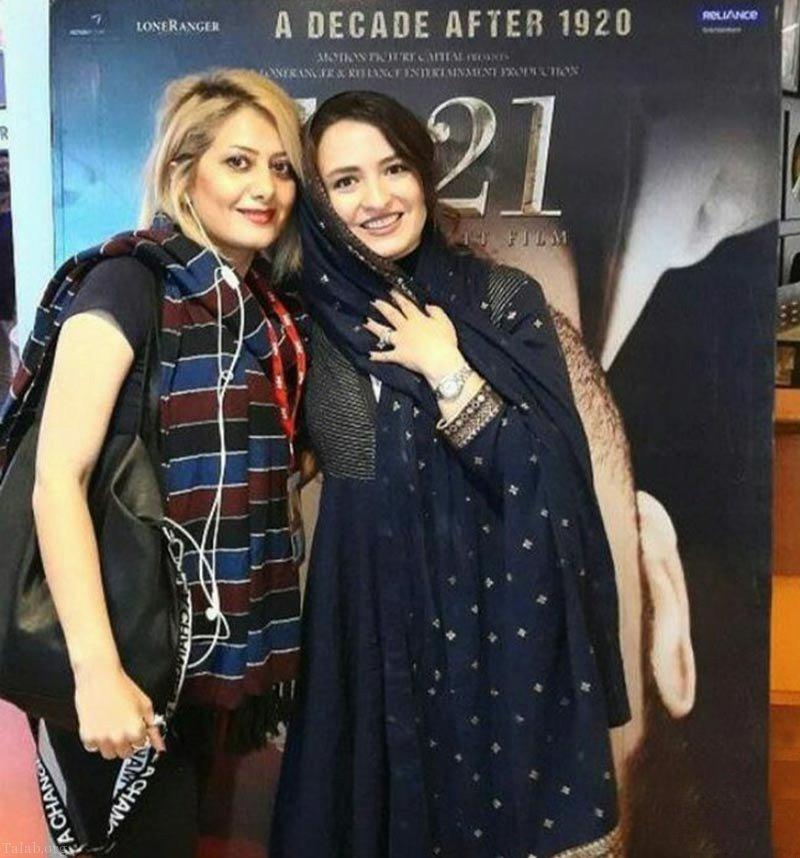 بازیگر هندی در کنار گلاره عباسی در جشنواره هندی 2018 (عکس)