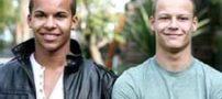 نخستین دوقلوهای سفید و سیاه پوست در جهان (+تصاویر)