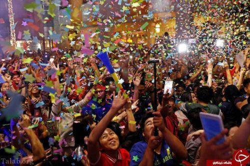 تصاویری دیدنی جشن سال نو 2018 در نقاط مختلف جهان