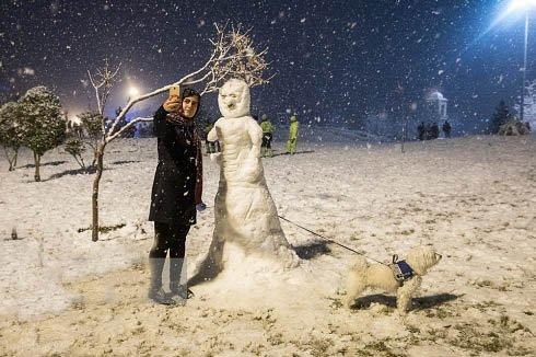 عکس های زیبای تهران در روزهای برفی – بارش برف در تهران