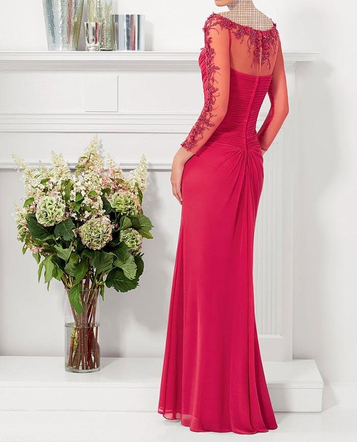 مدل لباس مجلسی گیپور بلند جوان پسند 98 - 2019