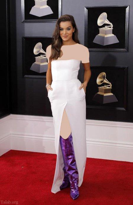 مدل لباس شیک ستاره گان هالیوودی در مراسم گرمی 2018