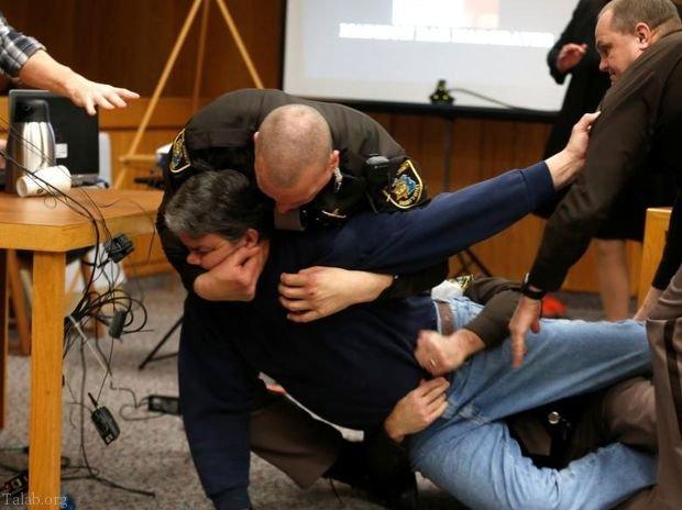 حمله پدر دختر ژیمناستیک کار قربانی تجاوز جنسی در آمریکا + فیلم