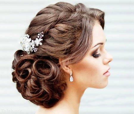 Image result for مدلهای شنیون جدید عروس