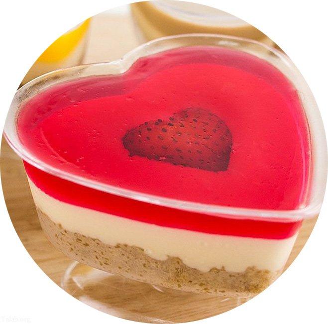 آموزش تهیه ژله قلبی ساده و خوش لعم برای روز ولنتاین