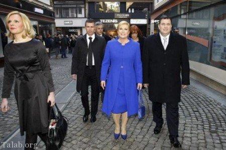 عکسهای لو رفته رئیس جمهور زن کرواسی بصورت برهنه در کنار دریا