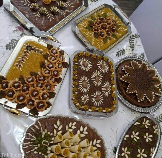 حلوای عربی   طرز تهیه حلوای عربی مجلسی + تزیین حلوا