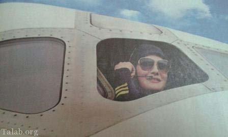 اولین خلبان زن هواپیمای مسافربری ایرانی بعد انقلاب (عکس)