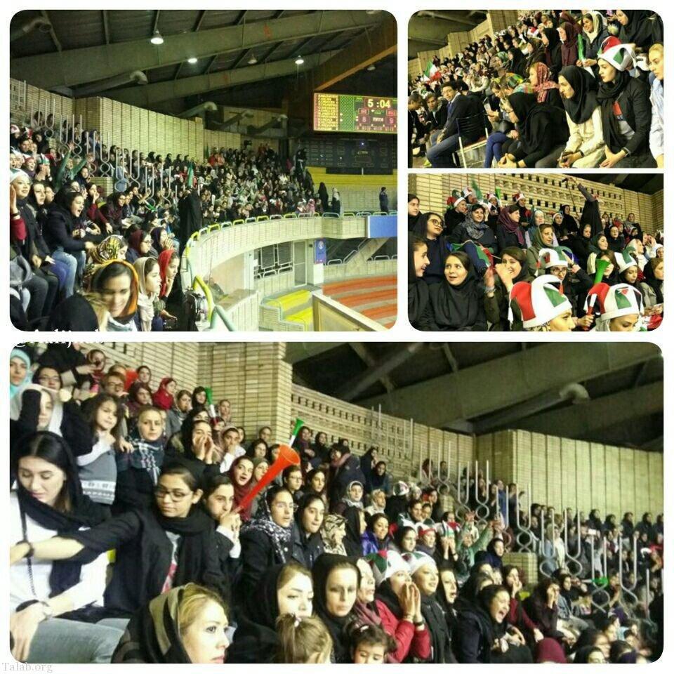 تصاویری از استقبال زنان از حضور در ورزشگاه سرپوشیده آزادی