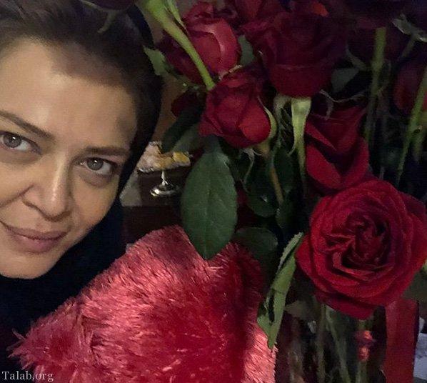 عکس های عاشقانه بهاره رهنما و همسرش در روز عشق