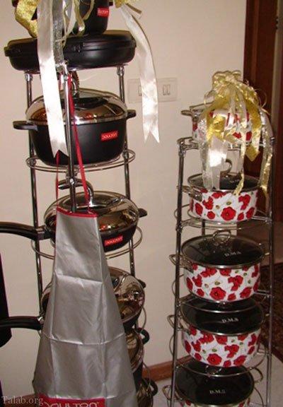مدل تزیین شیک آشپزخانه جهیزیه عروس - چیدمان جهیزیه
