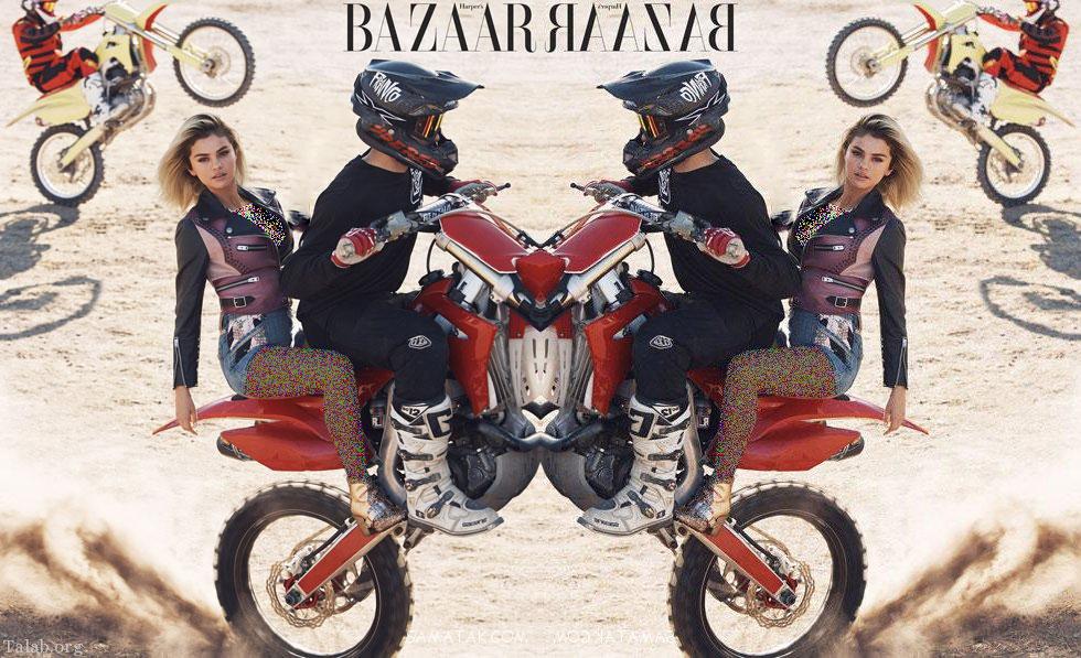 تصاویر داغ سلنا گومز در حال موتورسواری + رازهای زندگی خصوصی سلنا گومز