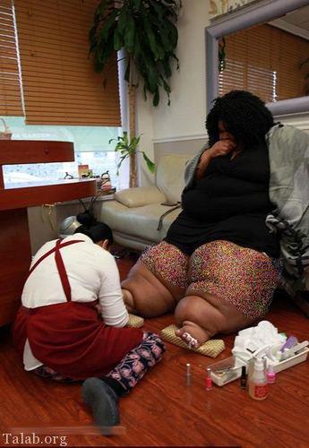 دردسر این زن آمریکایی بدلیل باسن و ران های بسیار بزرگ (عکس)