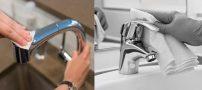 تمیز کردن شیرآلات استیل | نکاتی برای برق انداختن سریع شیرآلات منزل