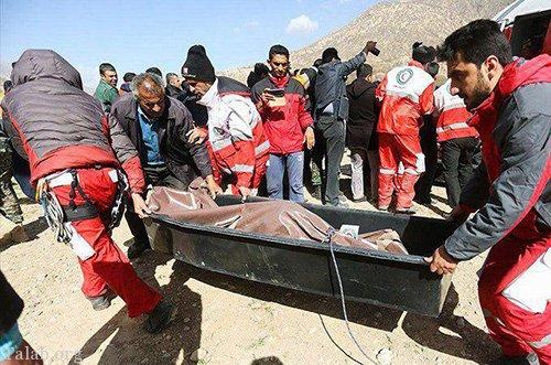تصاویر اجساد مینا باشاران و دوستانش در سقوط جت شخصی