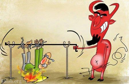 کاریکاتور چهارشنبه سوری 97   متن طنز + شعر طنز چهارشنبه سوری