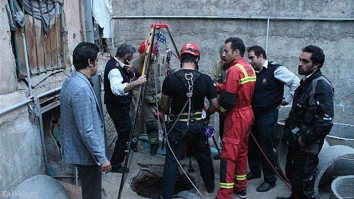 سقوط وحشتناک و مرگ کارگر تهرانی در چاه 20 متری + تصاویر