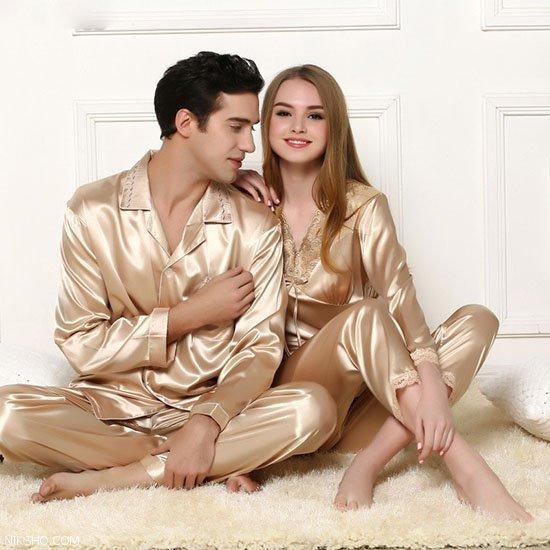 مدل جدید ست لباس خواب عروس و داماد ویژه شب حجله
