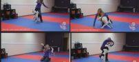 رقص دختر جوان با سگ باحالش (کلیپ دیدنی رقص)