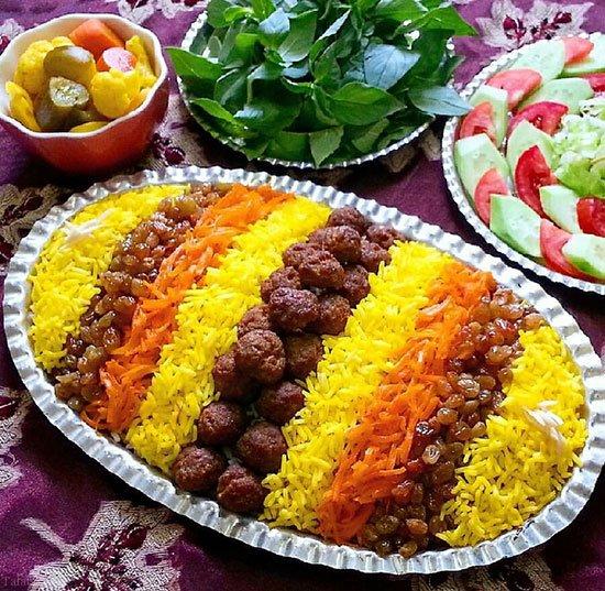 آموزش طرز تهیه غذای محلی خراسانی ساطری پلو
