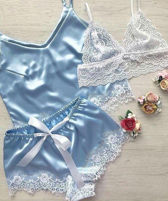 مدل های ست لباس زیر زنانه عروس 97 | لباس زیر زنانه برای شب زفاف