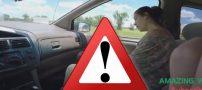 فیلم زایمان طبیعی زن جوان در داخل خودرو در حال حرکت