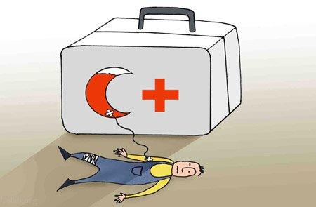 کاریکاتور مخصوص روز هلال احمر و صلیب سرخ