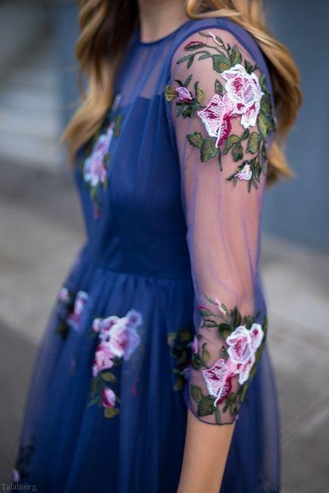 مدل لباس مجلسی زنانه شیک 98 | لباس مجلسی گیپور 2019
