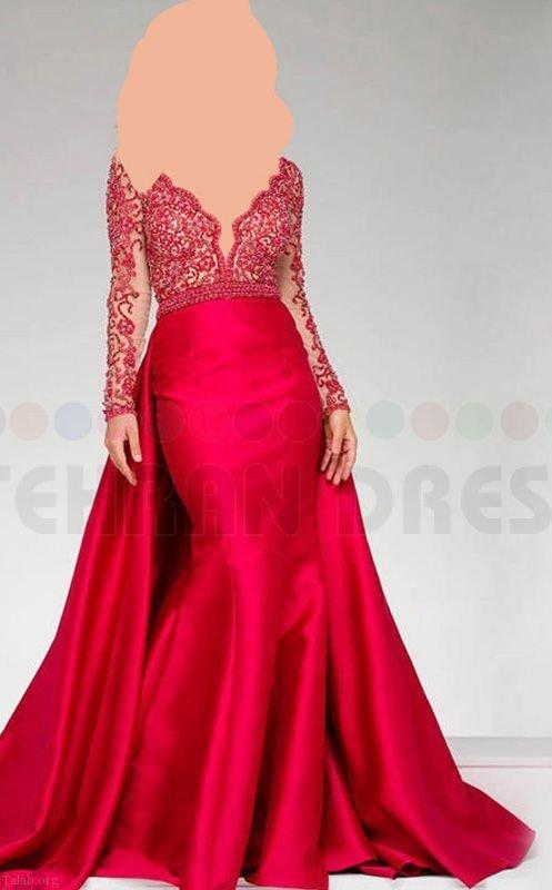 مدل لباس مجلسی زنانه شیک 97 | لباس مجلسی گیپور 2018