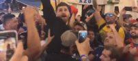 استقبال هواداران آرژانتین از مسی ایرانی در روسیه (کلیپ)