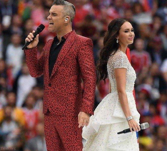 حرکت جنجالی خواننده مشهور رابی ویلیامز در جام جهانی 2018