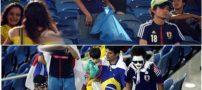 اقدام زیبای تماشاگران ژاپنی در جام جهانی 2018 (عکس)