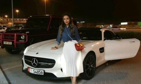 عکس های ماشین های لوکس و گرانقیمت مجری زن زیبای عرب