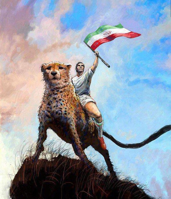 نوشته زیبا برای پیروزی ایران در جام جهانی 2018 روسیه
