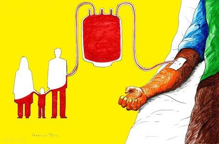 کاریکاتورهای مفهومی روز اهدای خون (14 ژوئن)