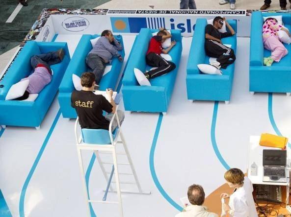 مسابقه جالب چرت زدن در اسپانیا (عکس)