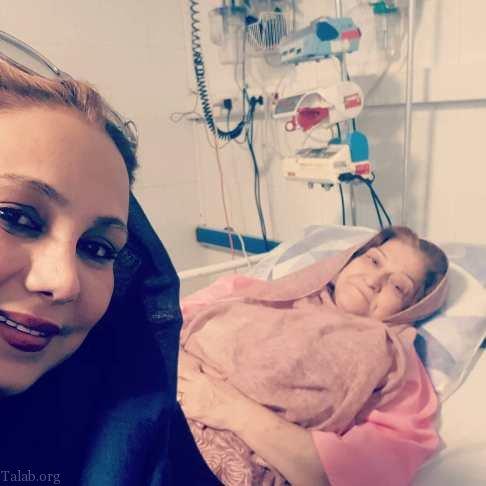 مادر بهنوش بختیاری روی تخت بیمارستان در بخش CCU (عکس)