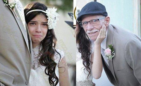 شب زفاف مرد 40 ساله با دختر 11 ساله در مالزی + عکس