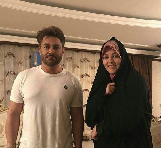 محمدرضا گلزار در منزل نعیمه اشراقی نوه امام خمینی (عکس)