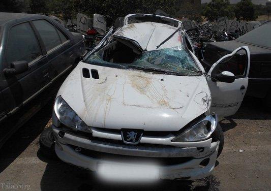 تصادف راننده جوان مست 206 با کارگران شهرداری تهران (فیلم)