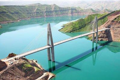طولانی ترین پل معلق کابلی ایران در خوزستان (عکس)