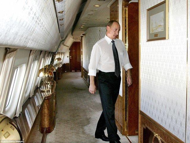 فیلم دیدنی از درون جت لوکس پوتین رئیس جمهور روسیه