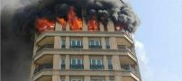 آتش سوزی وحشتناک در ساختمان مسکونی در شمال تهران (عکس)