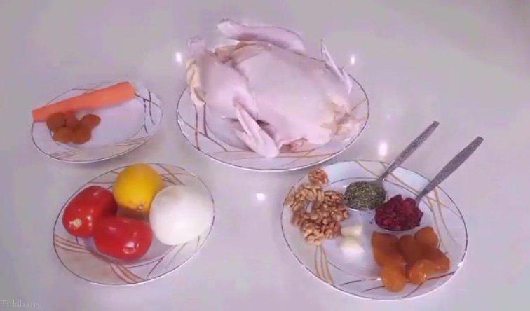 طرز تهیه انواع مرغ شکم پر بدون فر | آموزش تصویری مرغ شکم پر (فیلم)