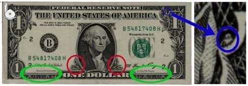 عجایب دلار و اسرار پنهان در دلار چیست ؟ (عکس)