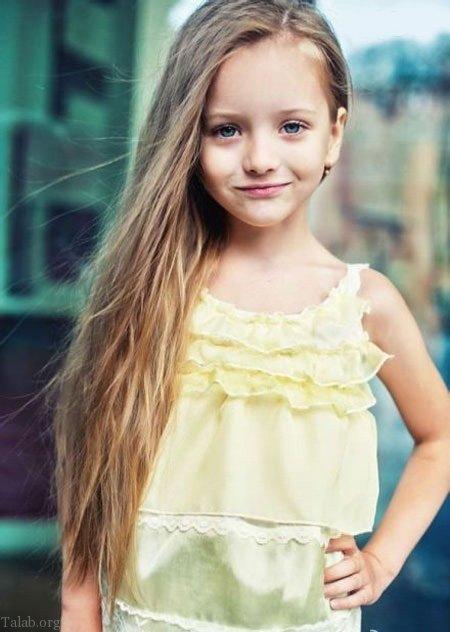 زیباترین دختر بچه دنیا | دختر زیبا و مانکن روسی (آنجیلینا کورکینا)