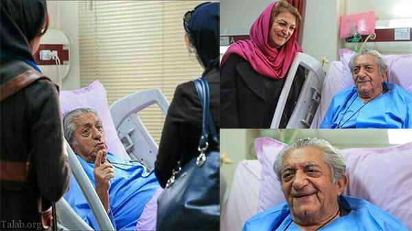آخرین عکس از مرحوم عزت الله انتظامی و همسرش